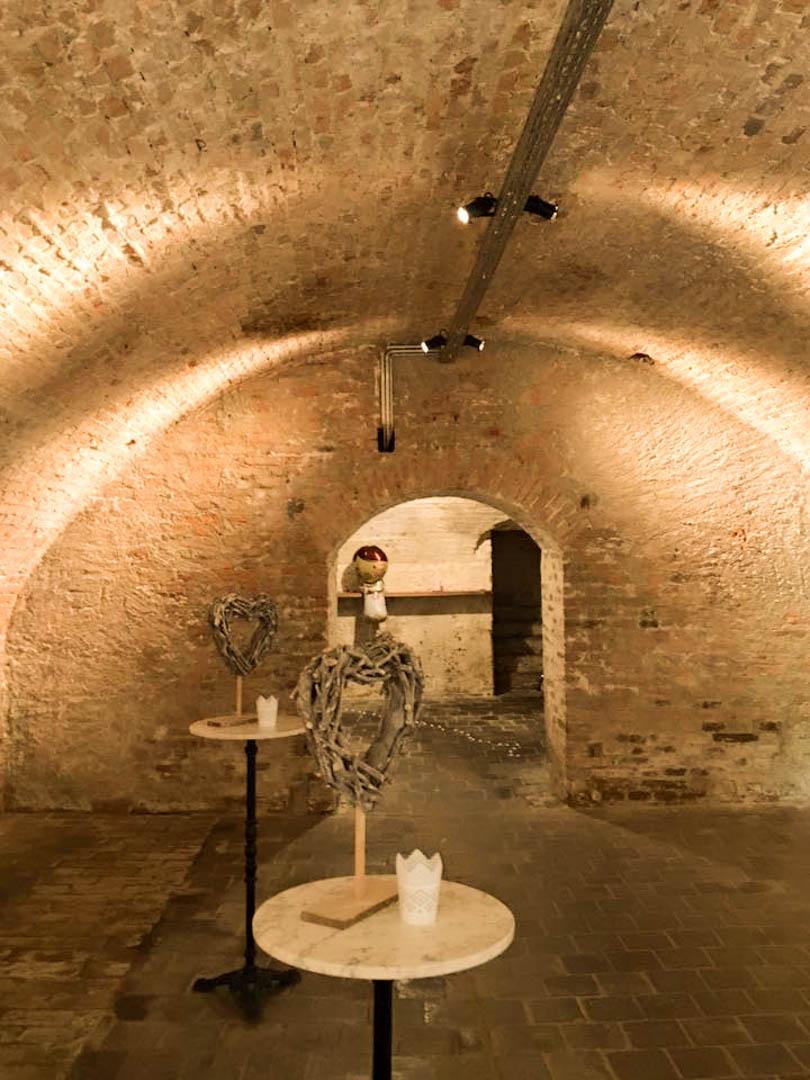 Das Kellergewölbe vom Gutshof