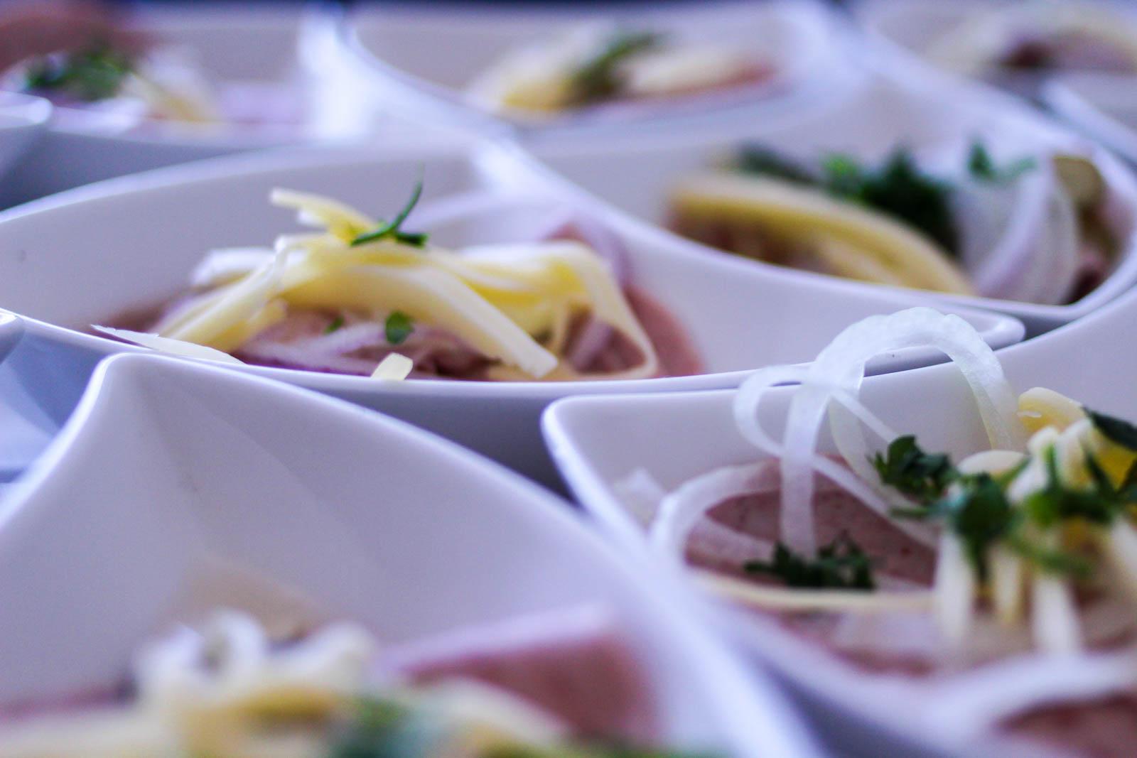 Schweizer Wurstsalat passt sehr gut zum Flying Dinner