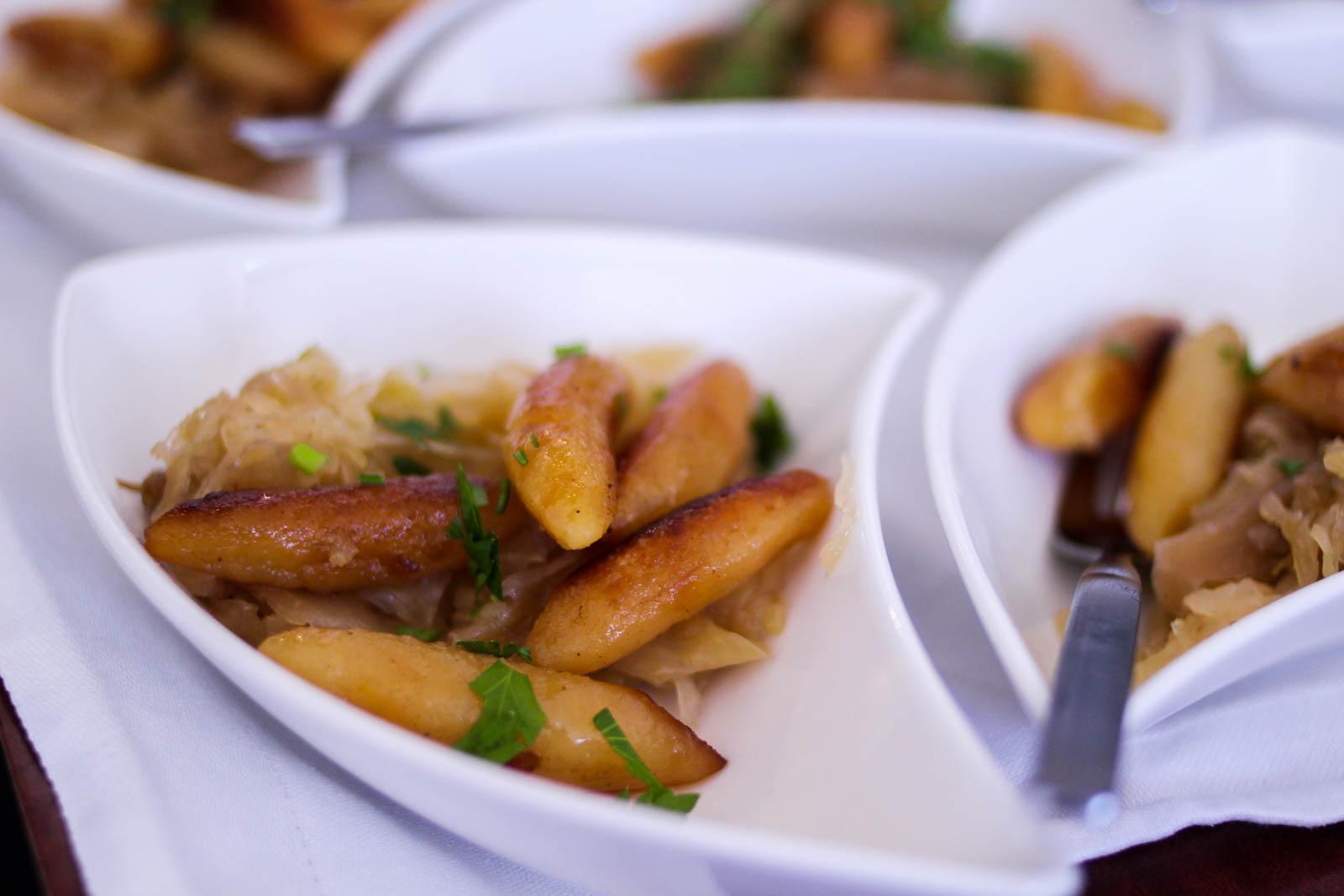 Vegetarisches Essen sollte beim Flying-Dinner immer angeboten werden.