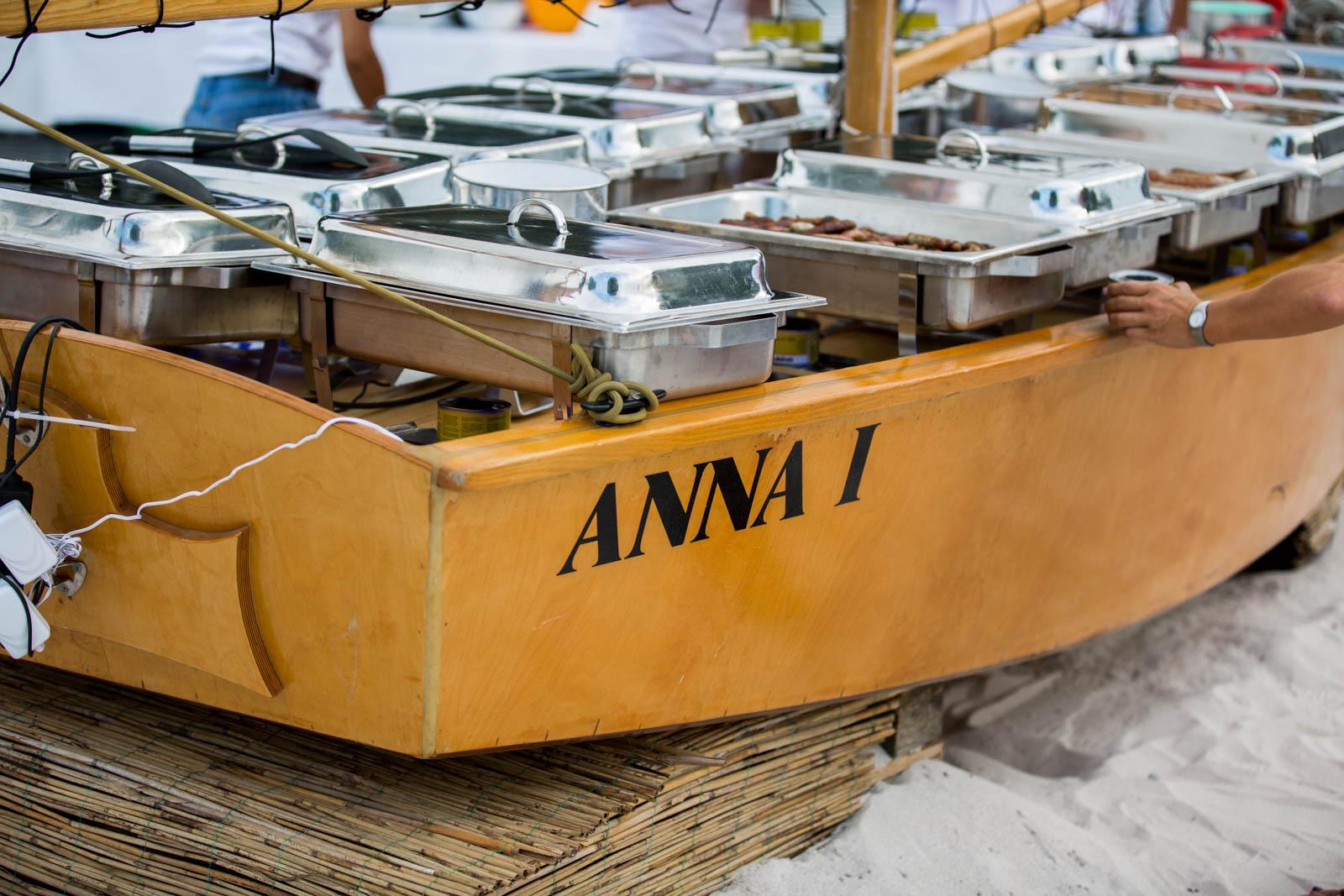 Das Boot Anna ist ein Hingucker auf dem Sommerfest