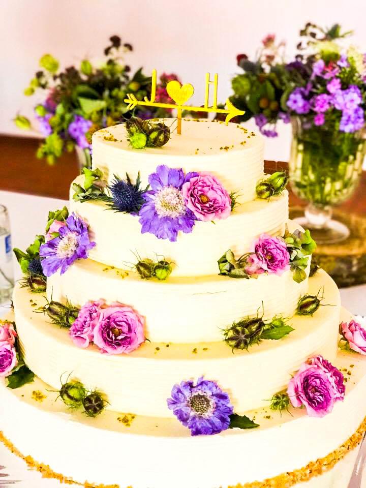 Die Hochzeitstorte für Gut Thurnsberg