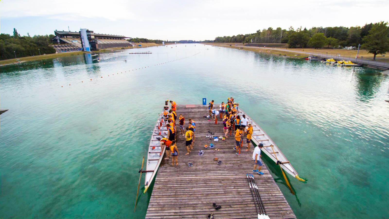 Drachenbootrennen, das gibt es in Oberschleißheim