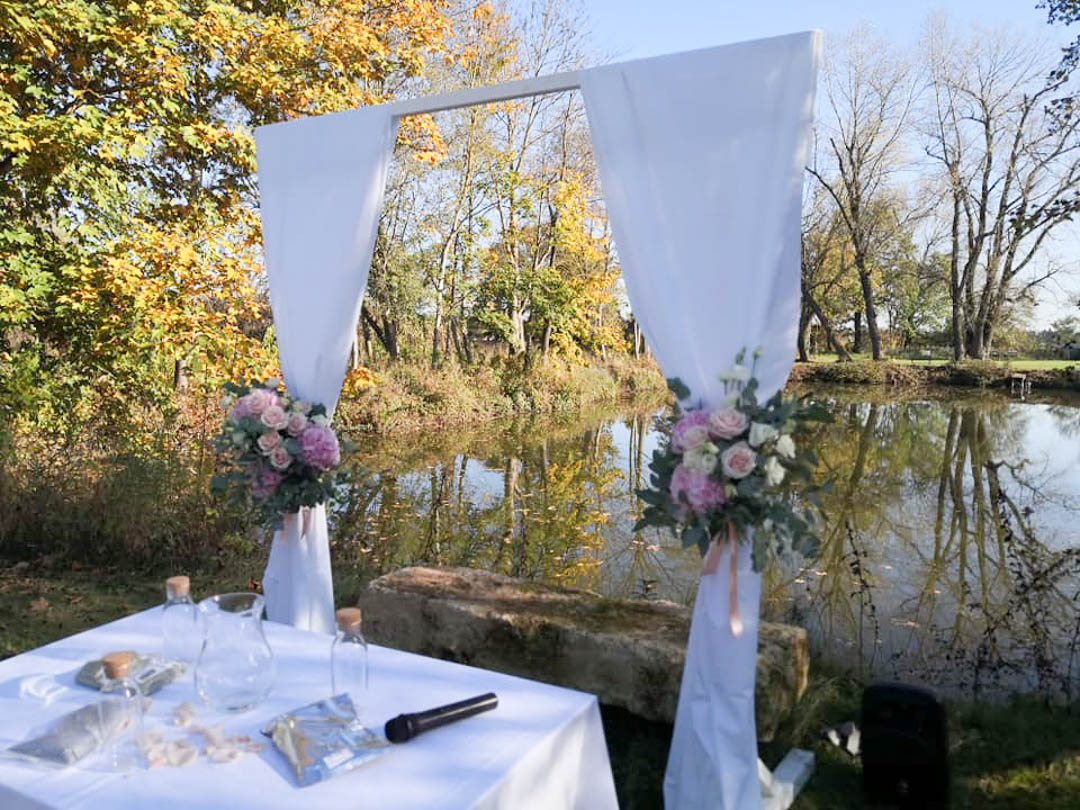 Hochzeits-Zeremonie in der Kaltmühle